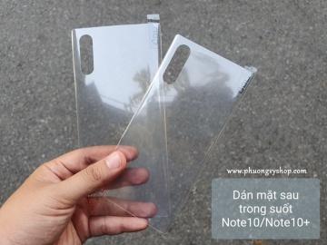 Dán mặt sau Galaxy Note 10. series các loại